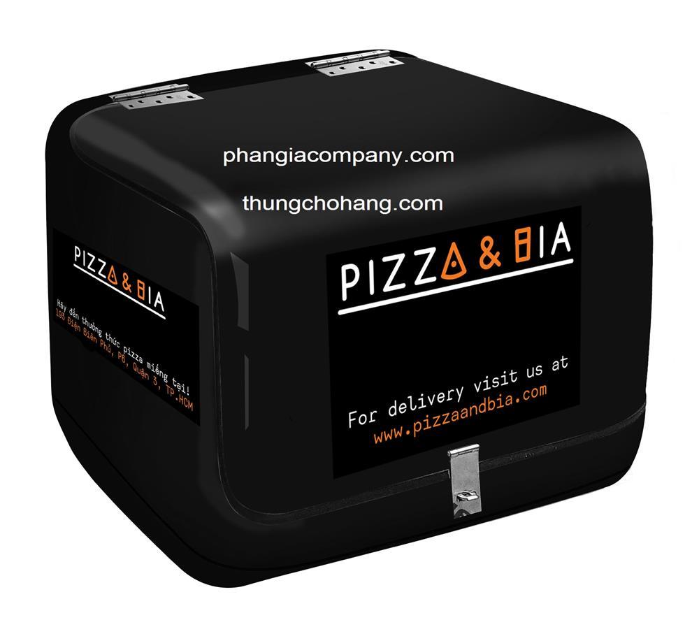 thung giao banh pizza & bia